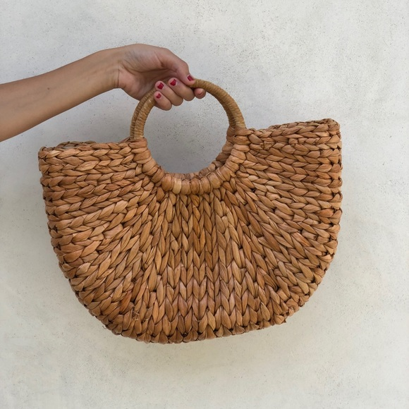 Straw tan tote bag 5a3376561b0cf